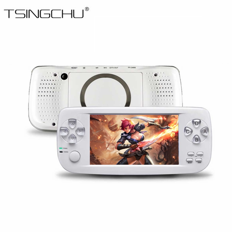 TSINGO PAP KIII Handheld Game Player 64Bit 4.3 Built-in 653 Classic Games Multifunction Video Game Console Support AV Output K3 ...