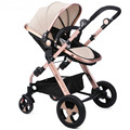 High Quality Aluminum alloy Baby Stroller High Landscape Can Sit Lying Baby Car Shockproof Folding Prams for Newborns