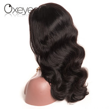 Oxeye girl Brazilian Body Wave Pre Plucked Full Lace Human Hair Wigs With Baby Hair Natural Color Non Remy Hair For Black Woman