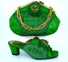 Free Shipping MM1011 Green 2016 Italian Shoes With Matching Bags For Party African Shoes And Bags