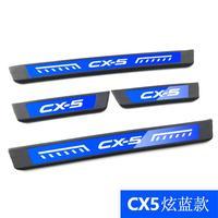 Excelente novos acessórios de aço inoxidável placa do peitoril da porta estilo do carro para mazda CX-5 2013-2019 estilo do carro