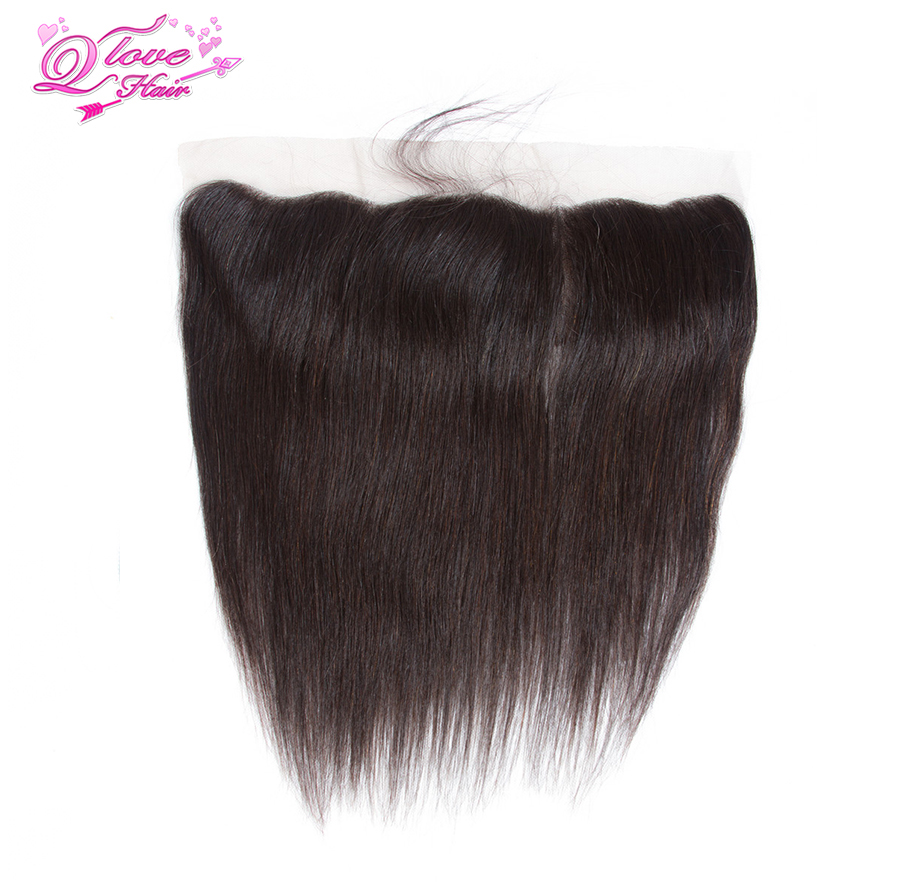 Queen Love Hair Malaysia Straight Lace Frontal Closure 13*4 Ear to Ear Free Part Closure 130% Destiny Remy Hair Free Shipping
