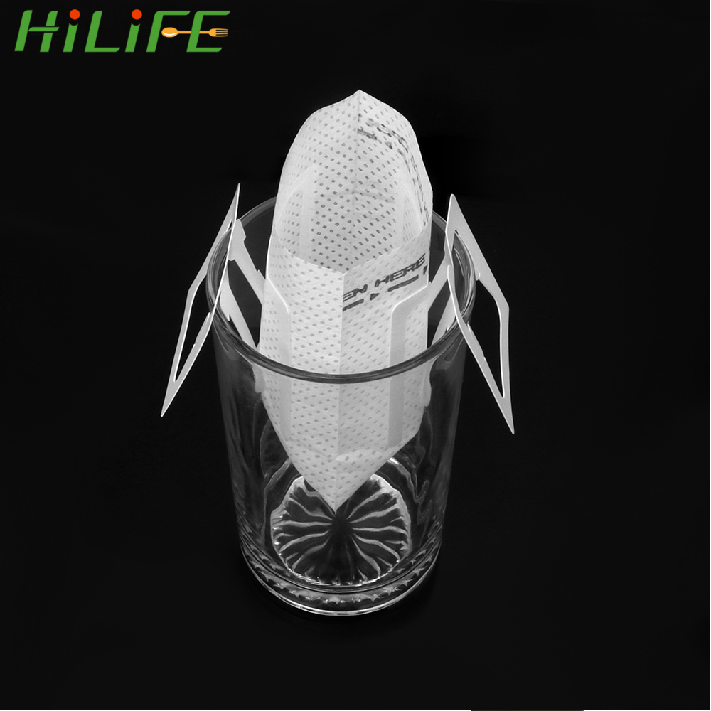 50PcsBag:  HILIFE 50Pcs/Bag Green Tea Infuser Coffee Filters Paper Drip Coffee Filter Bag Hanging Ear Style Tea Bag Strainer Coffeeware - Martin's & Co