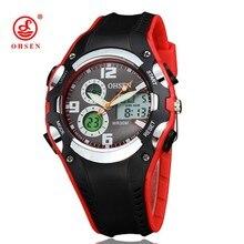 2016 Nueva OHSEN Retroiluminación de la Pantalla Digital Fecha Alarma Cronómetro Relogios Marca de Lujo 30 M Impermeable Relojes Deportivos Hombres