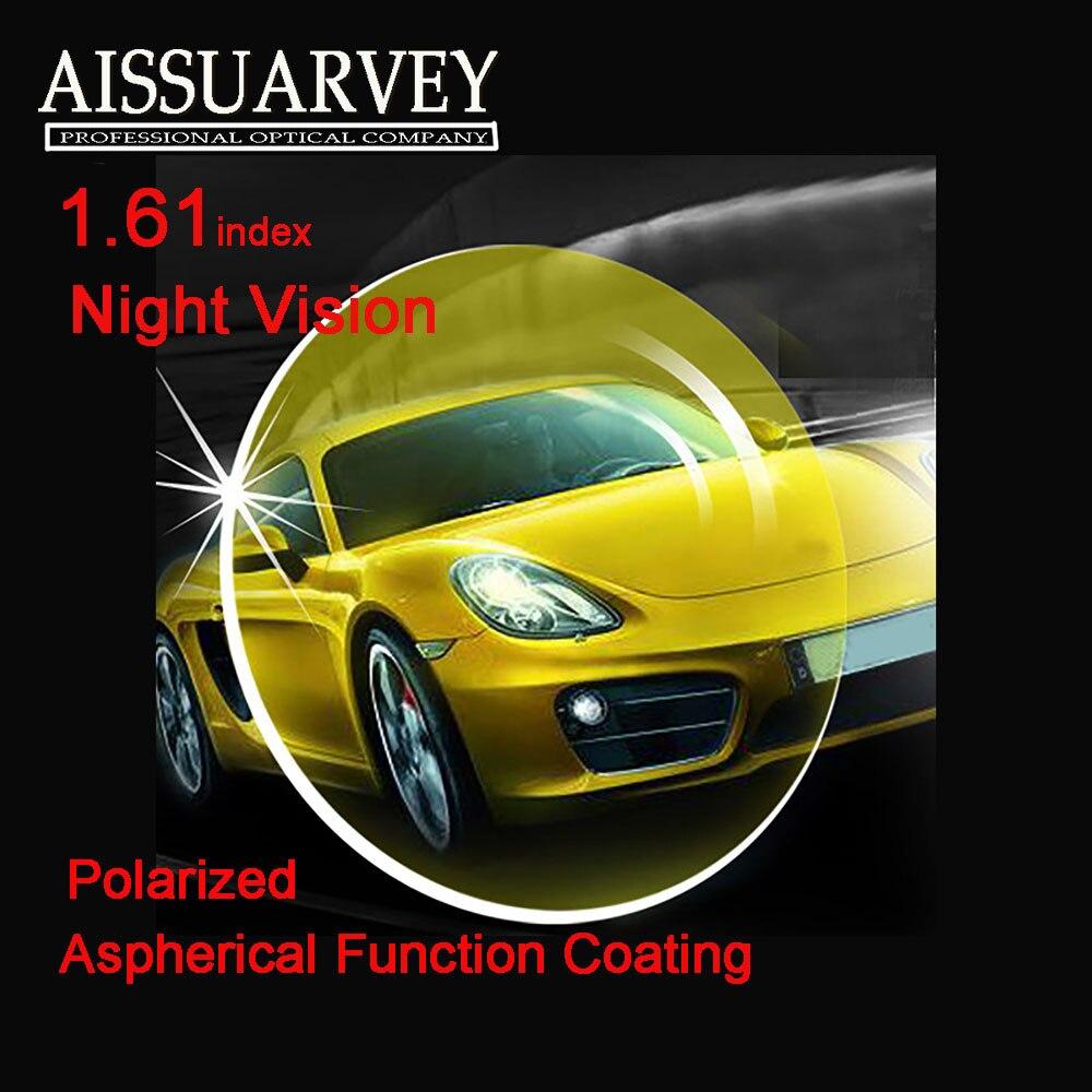 1.61 ИНДЕКС асферический поляризационные Солнцезащитные очки для женщин Оптические стёкла Ночное видение желтый для вождения поляризация о...