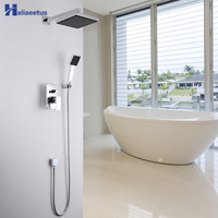 Haliaeetus Concealed Chrome Bathroom Shower Set.In Wall Shower Faucet With 8 Inch Rainfall Shower Head.Bathtub Mixer Tap