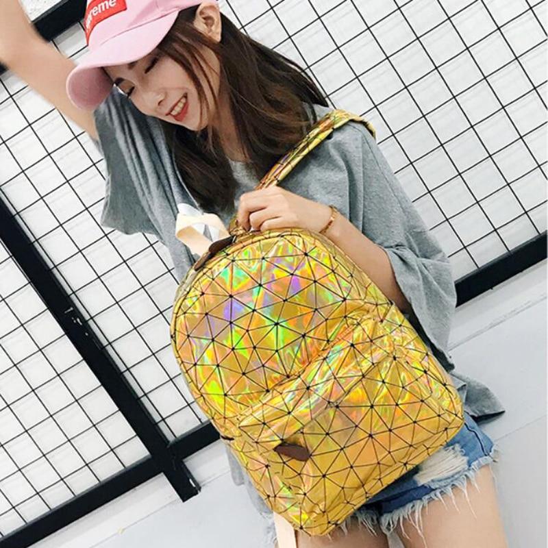 HTB1n 79Xh rK1RkHFqDq6yJAFXaD Large Travel Bags Laser Backpack Women Men Girls Bag PU Leather Holographic Backpack School Bags for Teenage Girls fashion bag