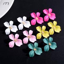 Korean Style Flower Stud Earrings For Women 2019 New Fashion Sweet Female Brinco Jewelry Wholesale