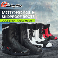 Riding Tribe Mid calf Racing Motorcycle Boots Breathable Windproof Protective Shoes Riding Dirt Bike Cycling Scooter ATV Botas
