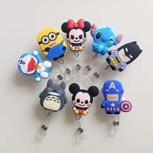 1Pcs Mini Cute Cartoon Retractable Badge Reel The New Student Nurse Exihibiton ID Name Card Badge Holder Office Supplies K027
