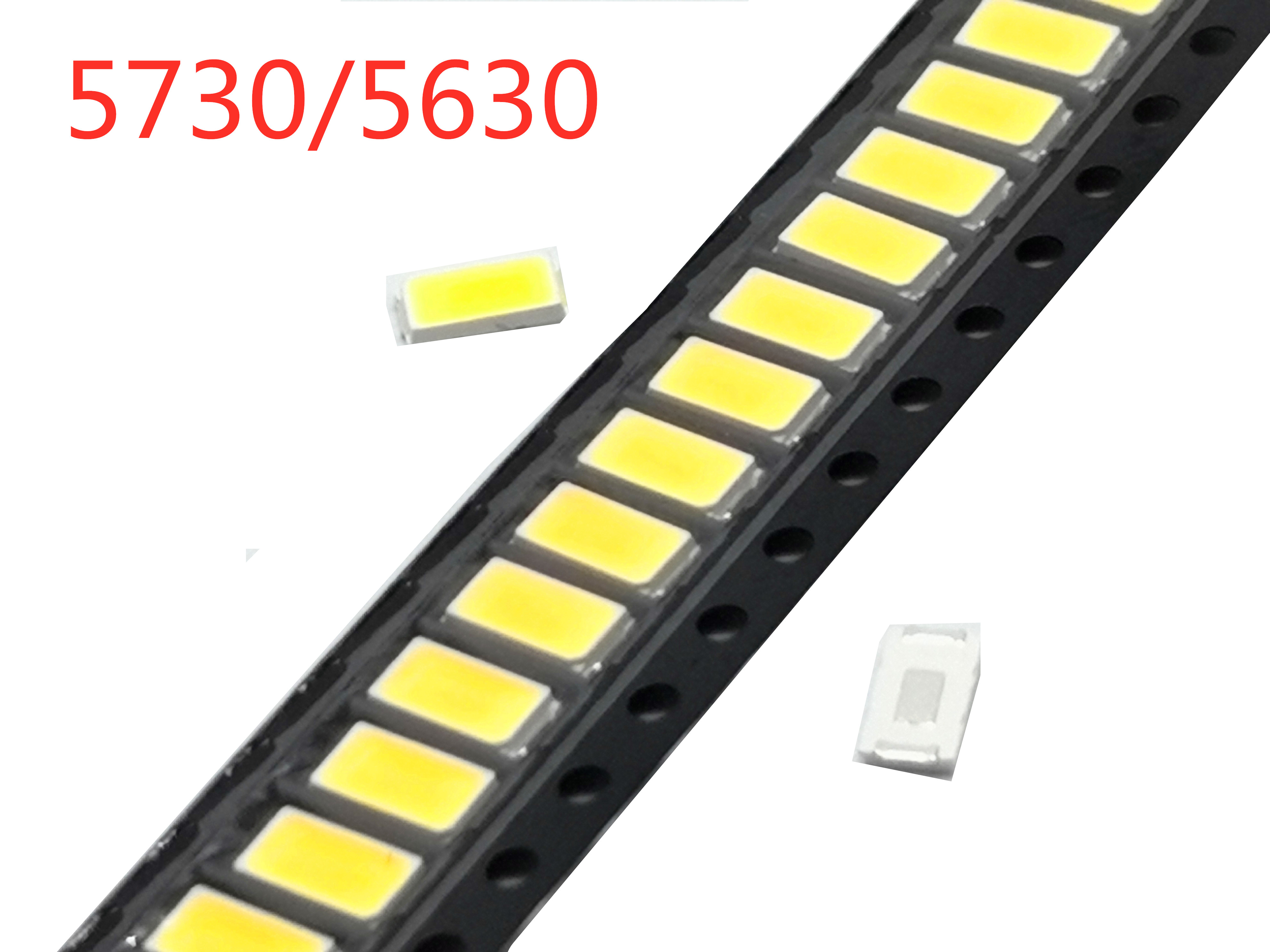 100 pcs SMD 5730 Diode White SMD5730 0.5W LED 5630 3000K 4000K 6000k 9500k Super Bright Chip 150mA PCB SMT Emitting Diode