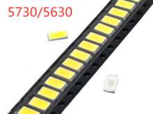 100 pcs SMD 5730 Diode White SMD5730 0.5W LED 5630 3000K 4000K 6000k 9500k Super Bright Chip 150mA PCB SMT Emitting Diode