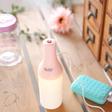 Newly 3 in 1 Mini USB Cool Bottle Air Humidifier Mist Maker LED light Diffuser for