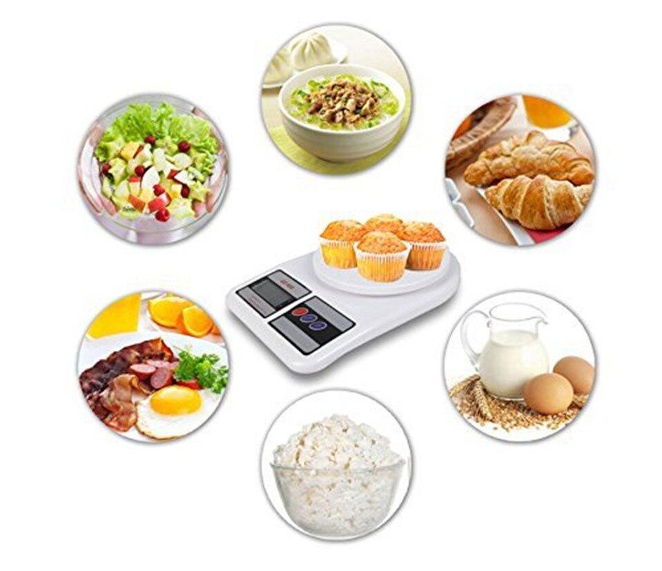 Кухонные весы, цифровые пищевые весы, высокоточные кухонные электронные весы, 10 кг x 1 г SF400-2
