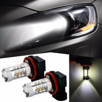 2x H8 H11Led 80W 1200lm 12V 24V Car Fog Light Fog Lamp Bulb For Kia Rio