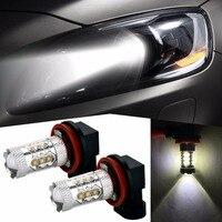 2x H8 H11Led 80W 1200lm 12V 24V Car Fog Light Fog Lamp Bulb For Kia Rio