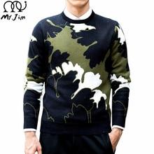 MR.JIM Sweater Pullover Men 2016 Male Brand Casual Slim Sweaters Men Fashion Trend Camouflage O-Neck Men'S Sweater
