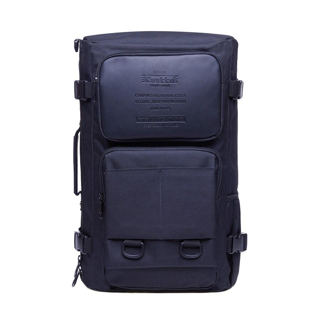 KAUKKO 2018 High capacity Laptop School Large Capacity Men's Backpack Canvas Weekend Bags Multifunctional Travel Bags K1027 kaukko large capacity shoulder bag mens traval canvas backpack unisex bags for teenager school knapsacks