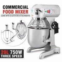 VEVOR Fábrica 20L Alimentos e Misturador de Massa Comercial com Velocidades 3