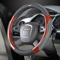 Роскошные Чехлы рулевого колеса автомобиля универсально 38 см набор из натуральной кожи специальный крутой чехол на руль