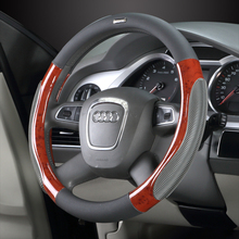 luxury car steering wheel covers universally 38cm Genuine leather  set special Cool hand cover