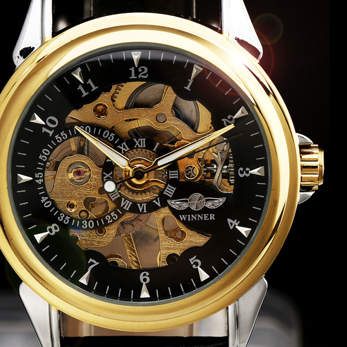 in men dial ultra hand mechanical homme s mens brand skeleton winding thin luxury transparent watches male item wristwatch watch sewor roman from side gold for montre