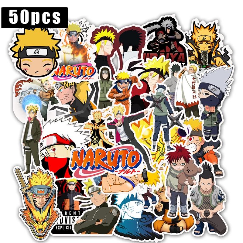 50Pcs Japan Anime Naruto Sasuke BORUTO Cartoon For Snowboard Laptop Luggage Fridge Car Styling Cute Vinyl Decal Stickers F5