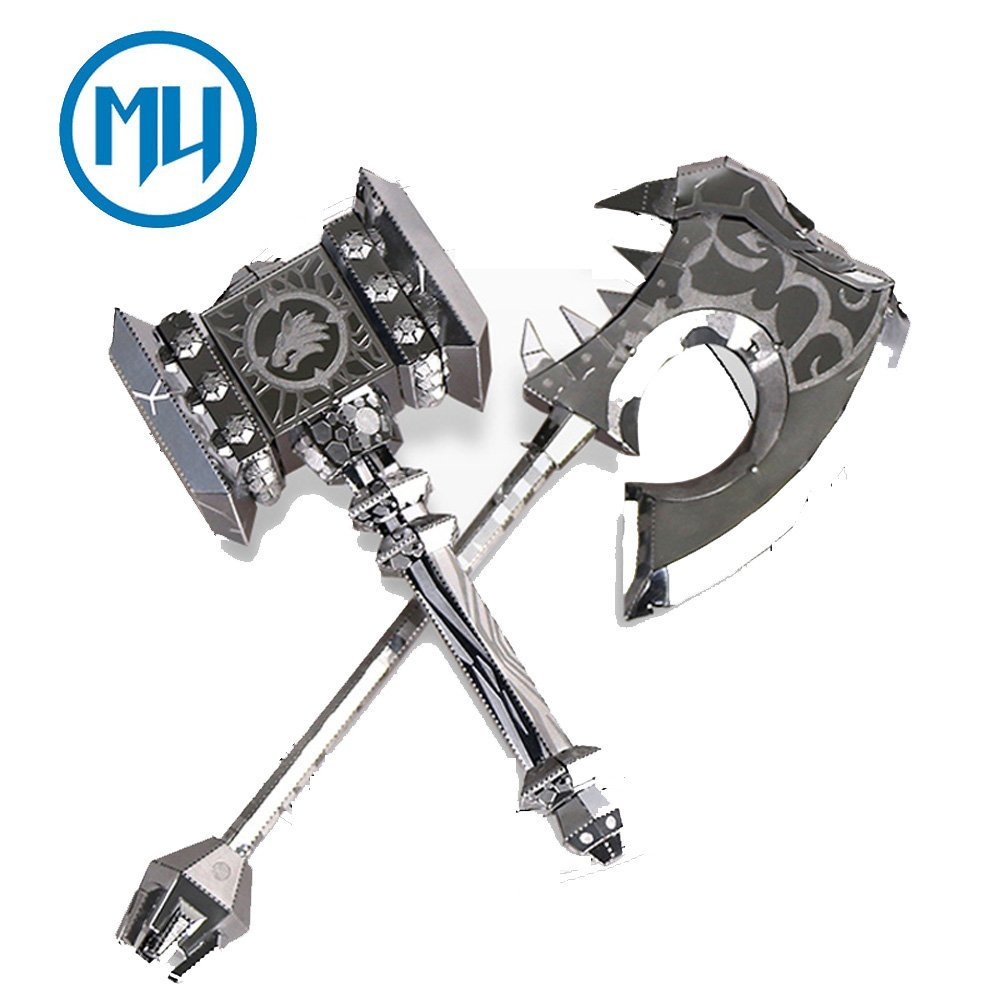MU 3D Metal Puzzle Abyss Weapon Equipment YM-N017AB-S DIY 3D Laser Cut Assemble Model Kit Jigsaw Toys For Gifts