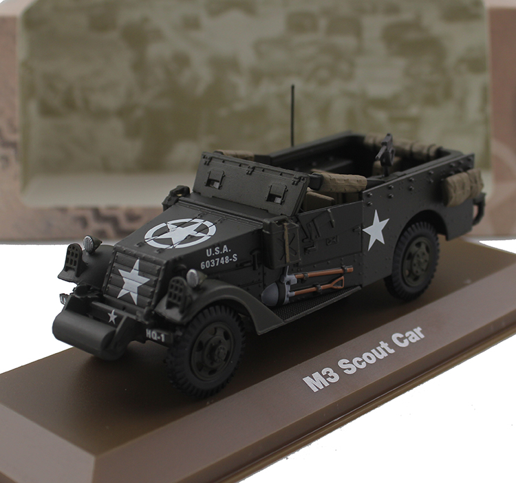 ATLAS 1/43 World War II M3 scout car patrol car Alloy model Collection model Holiday gift scout easy ii exclusiv