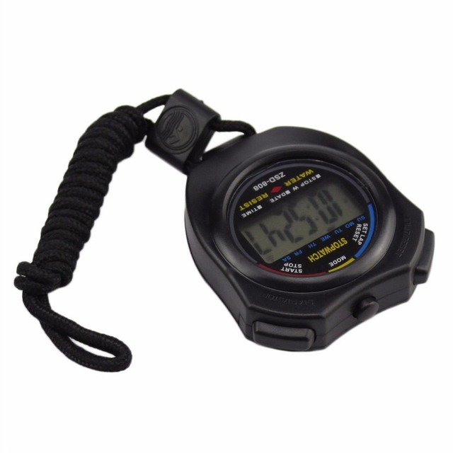 NEW Life Waterproof Digital LCD Stopwatch Chronograph Timer Counter Sports Alarm erkek kol saat relogioi drop shipping#YY