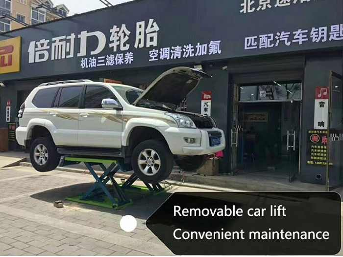 取り外し可能な車リフト付き容量3000キログラムポータブル自動昇降機小さなはさみ昇降台