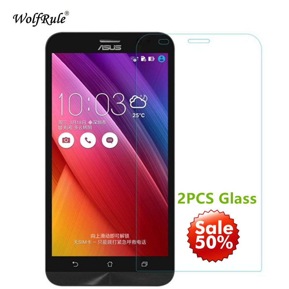 2PCS Glass Asus Zenfone 2 Ze551ML Screen Protector Tempered Glass For Asus Zenfone 2 Ze551ML Glass 5.5'' Phone Film ZE550ML [