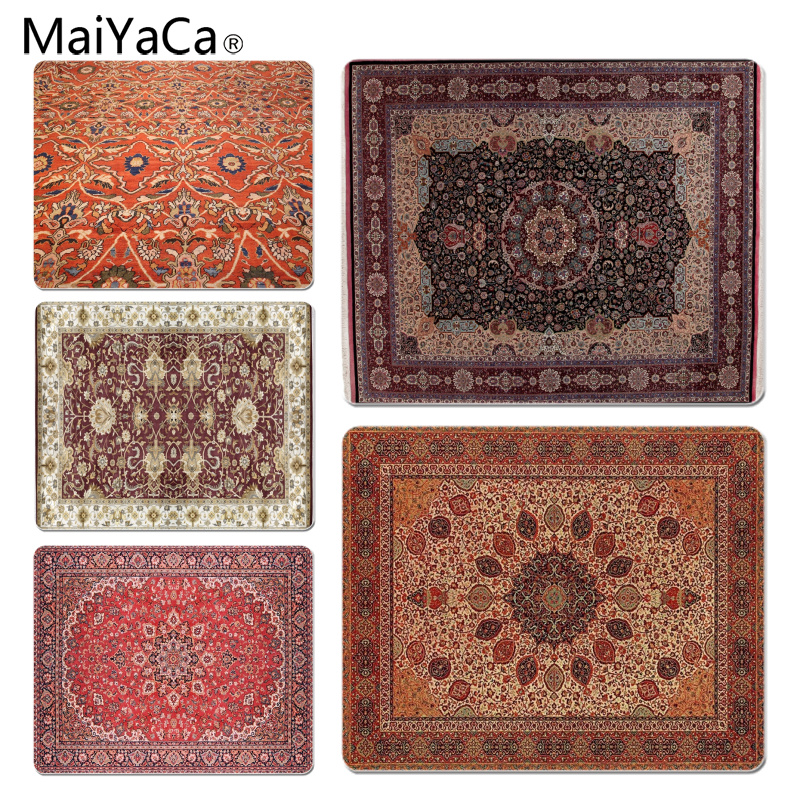 MaiYaCa 2018 New Persian Rugs mouse pad gamer play mats Size for 180x220x2mm and 250x290x2mm Small Mousepad