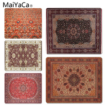лучшая цена MaiYaCa 2018 New Persian Rugs mouse pad gamer play mats Size for 180x220x2mm and 250x290x2mm Small Mousepad