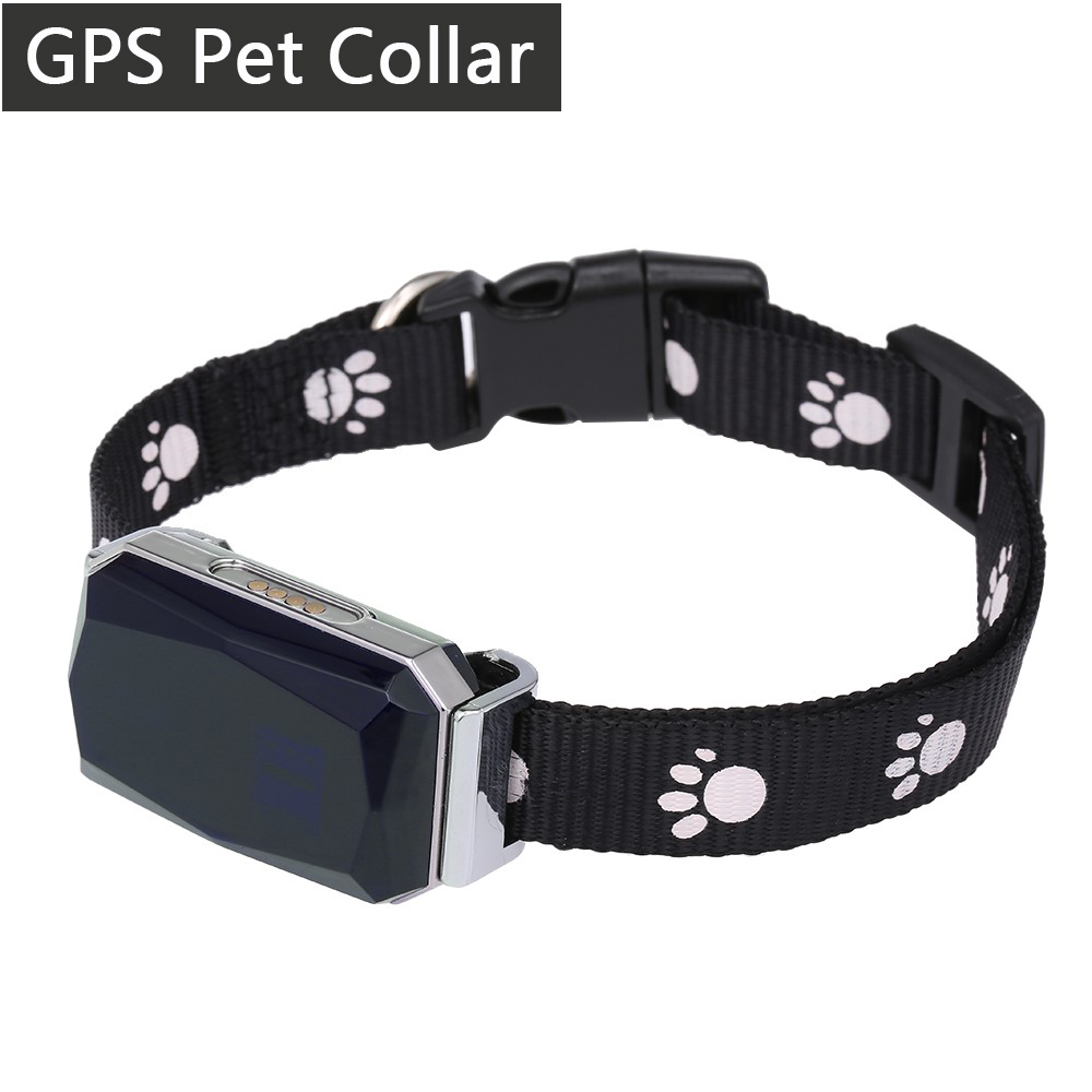 New Pet Dog Collar GPS Tracker With Mic For Big Dogs Golden Retriever Cat Real Time Mini AGPS LBS Tracking Locator Free APP