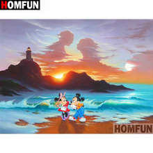 HOMFUN Full Square/Round Drill 5D DIY Diamond Painting Cartoon mouse Embroidery Cross Stitch 3D Home Decor Gift A13052