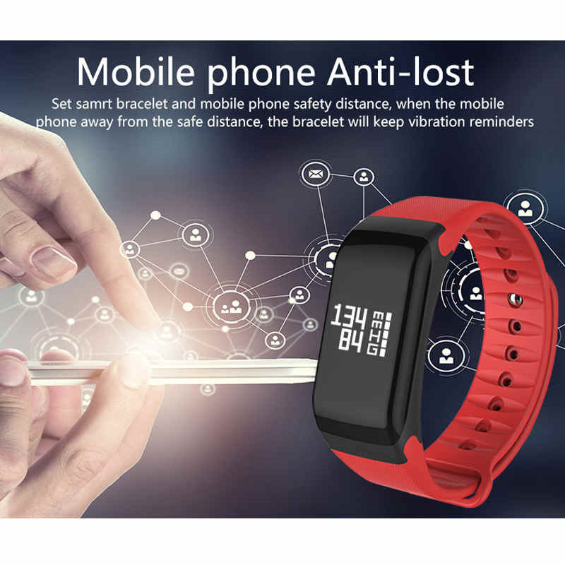Blood Pressure Monitor Smart Band F1 SmartBand Fitness Tracker Activity Wristband Heart Rate Monitor Pedometer Smart Bracelet