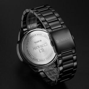 Image 5 - ساعة يد عصرية من CURREN للرجال بعلامة تجارية فاخرة ساعات يد رياضية تناظرية كاجوال من الكوارتز مزودة بشريط من الفولاذ بالكامل ساعة رجالية