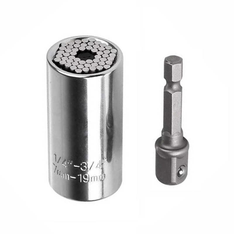 7-19mm llave de enchufe Universal juego de manga de Torque manga de trinquete kit de
