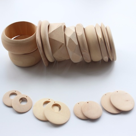 Good Wood Mixed Diy Unfinished Wooden Earrings Bracelet