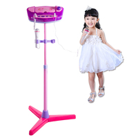 Upgrade Type Kids Karaoke Machine Stand Microphones Adjustable Music Toy with Bluetooth for Singing Toys For Children