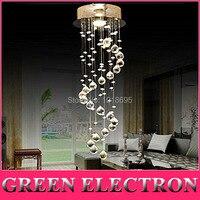 Modern Crystal Chandelier Ceiling Fixture Flush Mount Light Lamp D20cm X H60cm Living Room Aisle Entrance