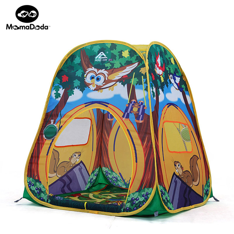 Baby Animal Owl Playpen With Game Mat Kids Crawling Toy Play Tent Safety  Portable Ocean Ball Pool House Children Fencing Teepee