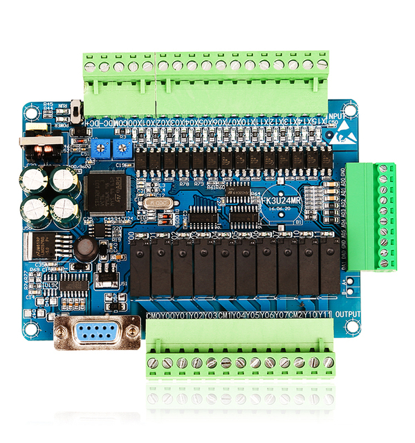 Drone FX3U-24MR high speed domestic PLC industrial control board with 485 communication and calendar year White shell
