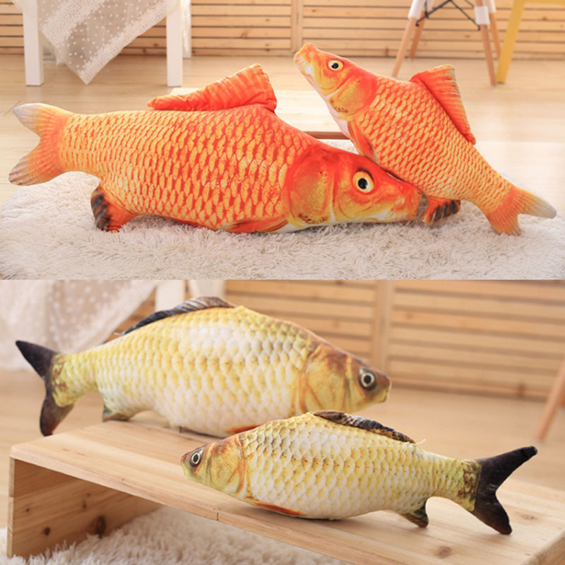 Simulated Fluffy Artificial Fish Pillow Cat Toy for Pets Cats Kitties Kitten Hot Sale