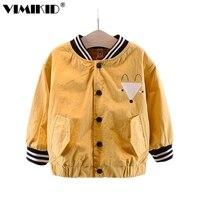 VIMIKID детская одежда хан издание небольшой лиса Детская кофта с длинными рукавами в частная марка пальто новые продукты a1