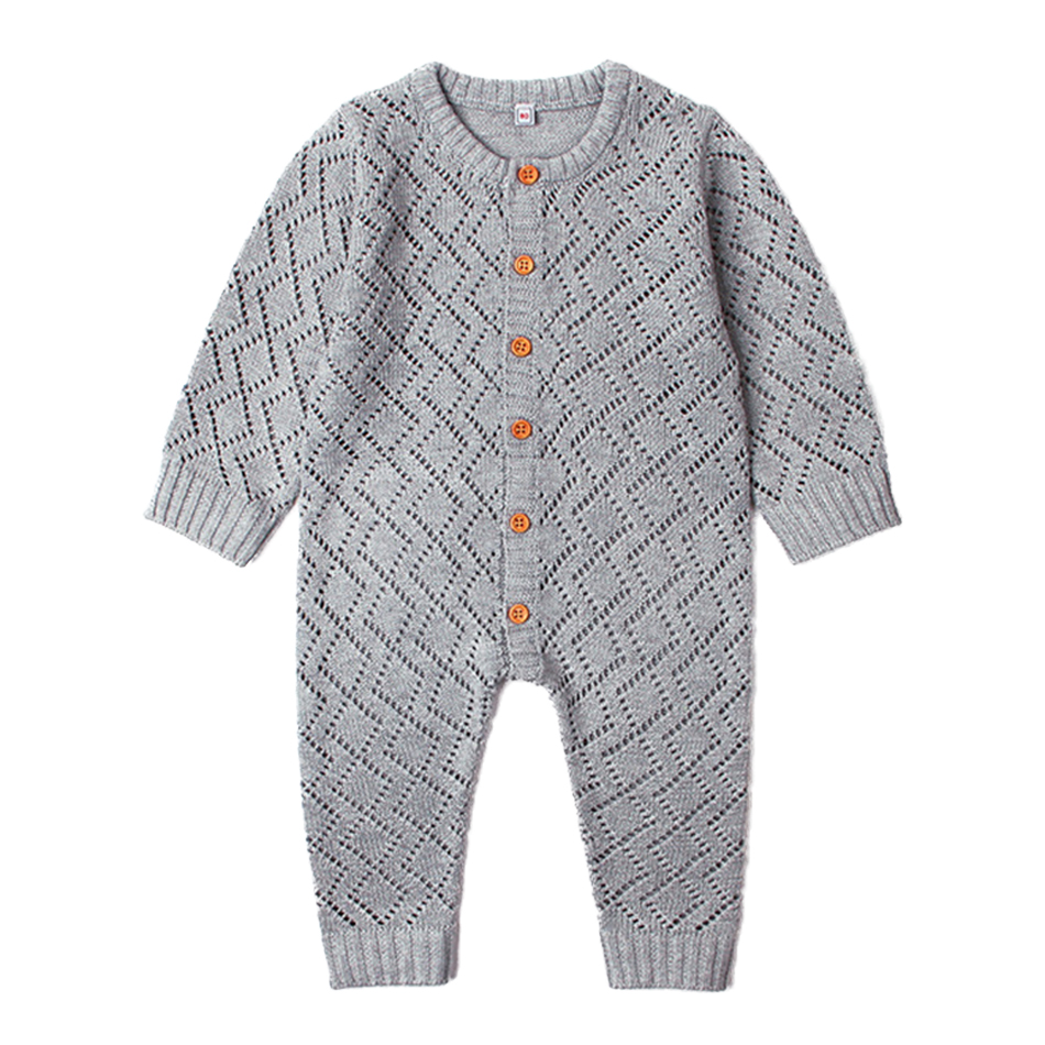 Baby Rompers Spring Thin Newborn Onesie Long Sleeve Overalls Summer Air Conditional Infant Boys Girls Clothing Outfits Crocheted