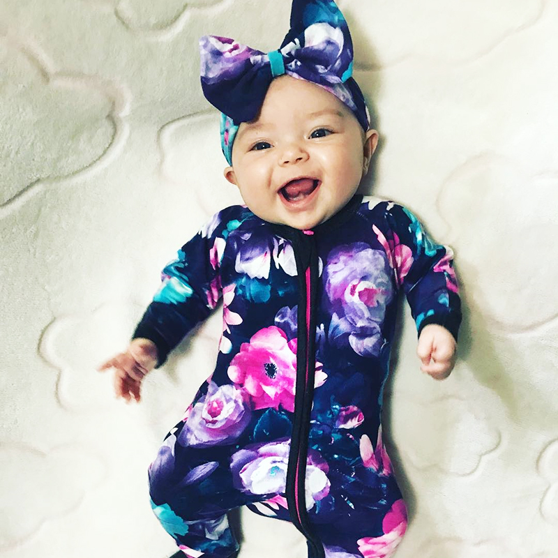 TinyPeople 2019 baby Onesie Baby Girl Clothes Newborn   Rompers   Bebe Jumpsuits Floral cotton Toddler Costume Onesie Infant   romper