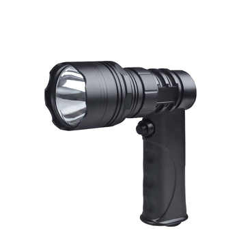 JUJINGYANG CREE LED powerful high quality gun shape spotlight with indicator light cigarette holder plug external contact wire