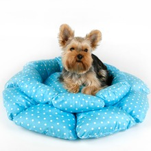 Pet Bed for dogs cats beauty dog house Sweet Pink Pure Blue Lotus Kennel Warm in winter and cool in summer dots pad Pets cushion